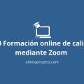Portada del post Formación online de calidad mediante Zoom